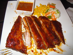 炭烤豬肋排餐