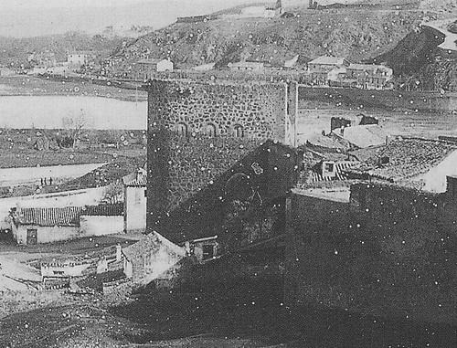 Torre de la Almofala a principios del siglo XX. Fotografía de Pedro Román Martínez (detalle)