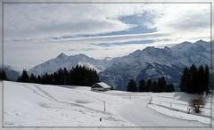 Wonderful view ... (ruschi_e) Tags: schnee snow mountains alps schweiz switzerland cottage htte berge alpen hasliberg anawesomeshot ruschie kunstplatzlinternational
