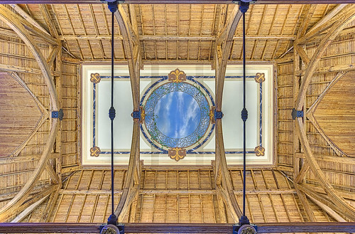 Pere Marquette Gallery of the Saint Louis University Museum of Art, in Saint Louis, Missouri, USA - ceiling