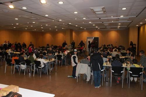 Vista de la sala de joc, el Centre de Congressos d'Andorra la Vella