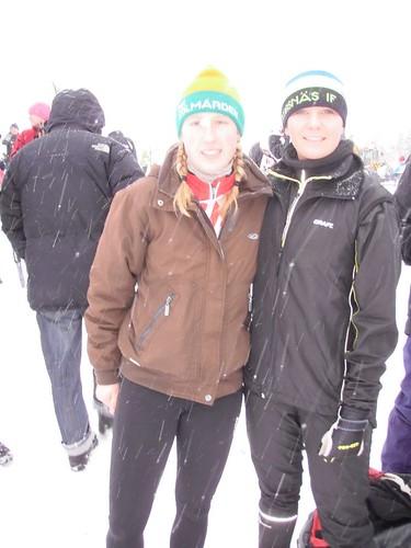 Ulrika och Anna före start.