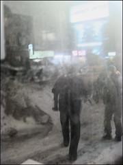 Nuite Blanched (Tim Noonan) Tags: blue shadow white snow cinema colour art night digital photoshop manipulation figures oe selective urbanblackandwhite artdigital trolled awardtree miasbest trolledandproud magiktroll exoticimage
