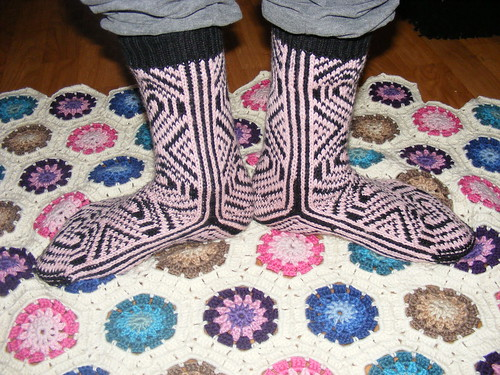 Pink selbu inspired socks by you.