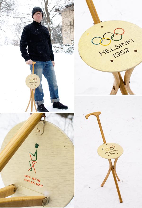 Helsinki Olympics - wooden chair/cane