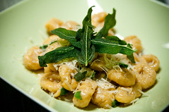 ~24~ Gnocchi in brown butter & sage (mikomiao) Tags: food cooking sage sweetpotato gnocchi 2010 yip brownbutter parmegiano