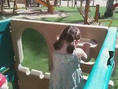 Lottie climbs (theboywiththethorninhisside) Tags: holiday egypt sharmelsheikh sharm naamabay