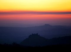 Carreg Cennen Silouhette Sunset Edit 2 07.03.10 (Gareth Scanlon) Tags: blue trees sunset orange cliff cloud sun mountain black blur detail tree castle silhouette yellow clouds haze carmarthenshire cloudy warmth highcontrast bluesky medieval breconbeacons redsky burningsky sharpen pinksky uphill legend barren beacon blackmountain rugged beautyspot sunray enclosure castell desaturate cliffface carmarthen shutterpriority longshutterspeed ammanford castellcarregcennen castleruin walescountryside welshcastle warmsky polarisingfilter ammanvalley carregcennencastle brynamman gorgeoussunset castlewales ruralwales castlesilhouette sunsilhouette gwauncaegurwen welshview orangeraduatedfilter ammanvalleyphotographer viewwales trapwales