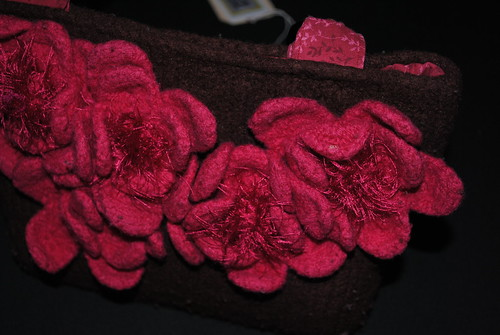 Knitted, felted purse