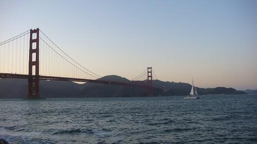 Il Golden Gate verso il tramonto