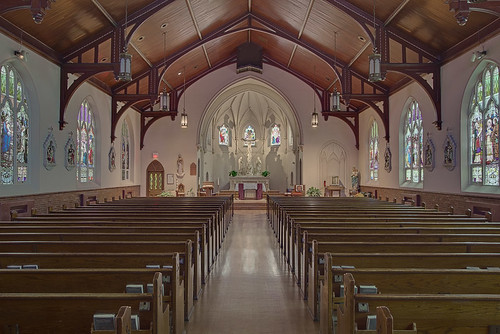 Saint Joseph Roman Catholic Church, in Clayton, Missouri, USA - nave