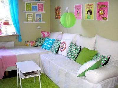 almofadas verdes decorativas