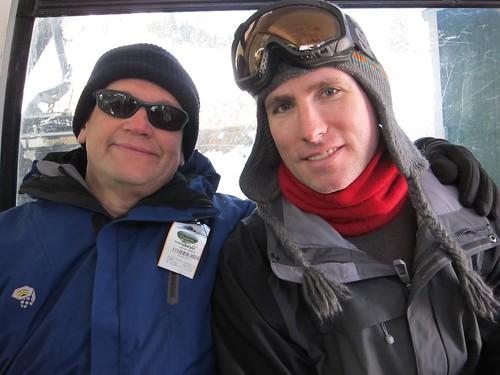 Roger and David on gondola at Canyons