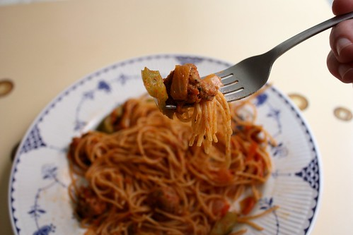 Pasta with Sausage and Mozzarella
