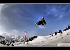 (iPh4n70M) Tags: park blue sky snow ski france sport clouds montagne french photography fly photo jump nikon freestyl