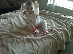 Liesl Handing Me Her Bottle