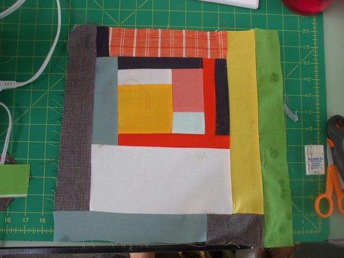 first block from the Denyse Schmidt class - Day 1