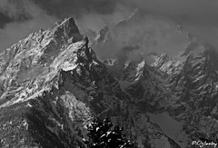 High Hopes (P. Oglesby) Tags: blackandwhite snow mountains clouds peaks grandtetonnp thehighlander godlovesyou goldstaraward 1001nightsmagiccity