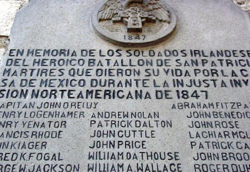 Placa_conmemorativa_Batallon_de_San_Patricio