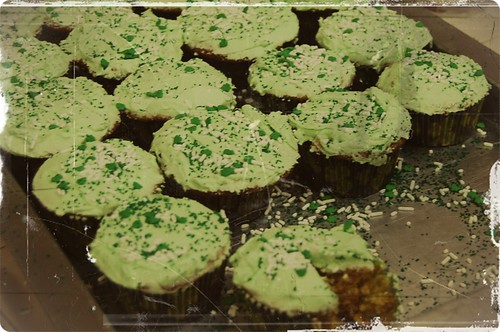 Brown Sugar & Creme de Menthe Cupcakes