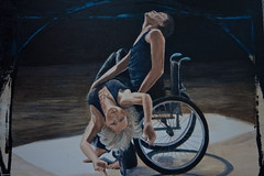Paralympic art (Eyesplash - Summer was a blast, for 6 million view) Tags: ballet art painting dancers dancing display artistic unique wheelchair creative creation disabled athletes depiction paralympic