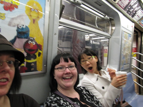 D'Arcy, Soo and I goin' to Brooklyn