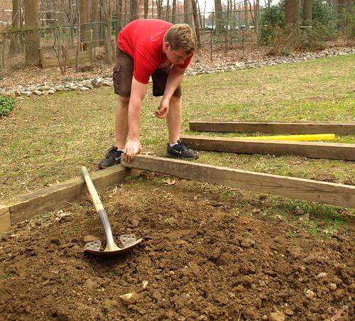 leveling the garden