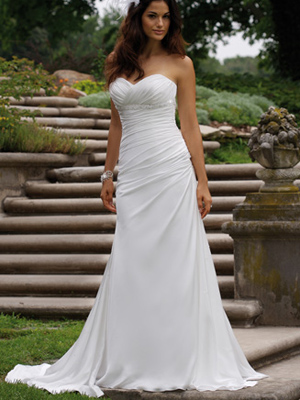 Sheath style wedding dresses to simple