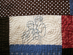 little knitters (yolieodom) Tags: embroidery quilting stitching
