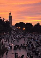 DSC_6938 (thisyearsboy) Tags: sunset el morocco marrakech marrakesh koutoubia fna djemaaelfna djemaa