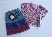 Sweet Paisley set - embellished shorties & wrap shirt - newborn