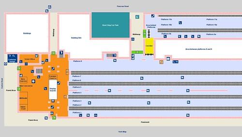 London Kings Cross, station plan