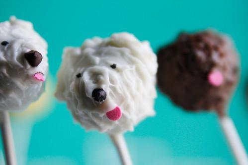 Fluffy Dog Cake Pops