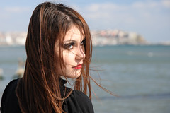 What...? (Volkan Donbalolu) Tags: sea portrait people beach girl beautiful beauty face female turkey photography photo seaside nikon perfect photographer expression side trkiye great picture photographers istanbul full portraiture frame fullframe nikkor fx deniz turkish portre voices volkan gzel kz kumsal silivri adile d700 nikond700 2485f284d portraitworld nikkor2485f284d donbaloglu donbalolu volkandonbalolu volkandonbaloglu nikonnikkoraf2485mmf284dif