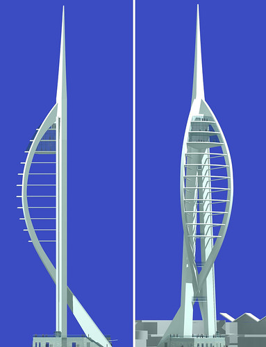 Image Spinnaker Tower, Copyright © HGP Greentree Allchurch Evans Ltd. 2000