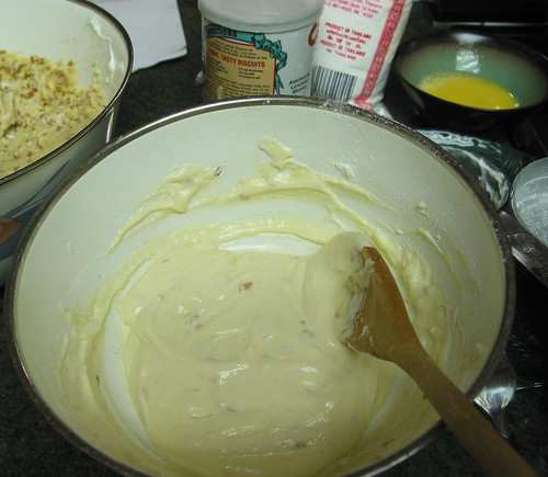 egg-yogurt-rice-flour mixture