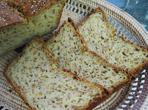 gluten-free hearty seeded bread slices