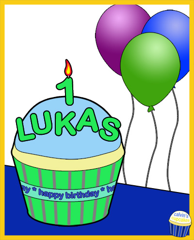 Lukas's 1st Birthday Cupcake
