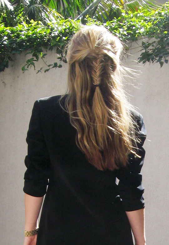 fish tail hair braid -3