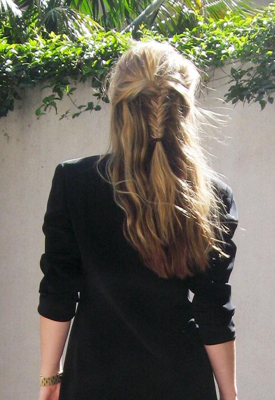 fish tail hair braid -3