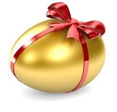 Buona Pasqua (*Blunight 72*) Tags: easter gold egg giallo rosso auguri oro pasqua fiocco uovo dorato giallorosso blunight72 foreachflickrsfriends pertuttigliamicidiflickr