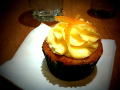 Banana cupcake with Marmalade Buttercream Frosting