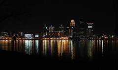 Louisville After Dark (Mary America) Tags: light ohio favorite usa reflection love nature water beauty night america canon river landscape lights interesting flickr downtown seasons emotion kentucky ky air stock shoreline favorites explore nighttime passion louisville kentuckiana