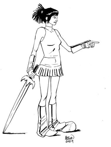 Scrap Paper Girl004