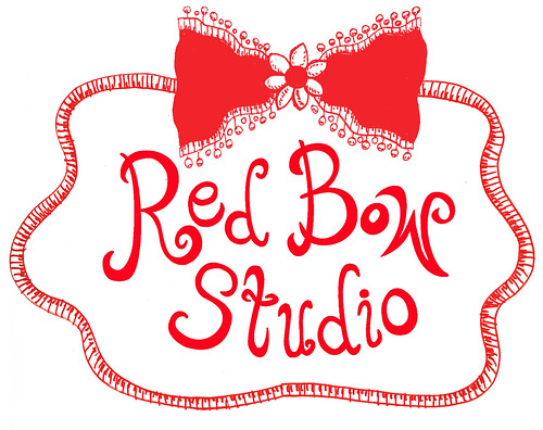 Red Bow Studio Postcard Centered