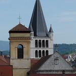 Clochers de la Cathédrale de Saint-Pierre et de l'Église Notre-Dame-de-Liesse, Annecy