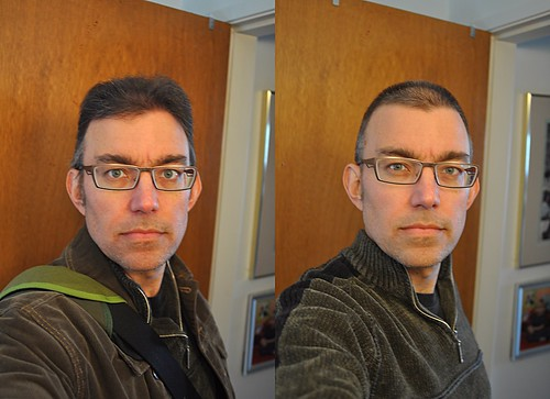 Buzz cut before and after