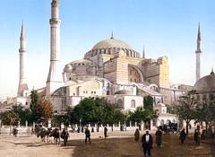 [フリー画像] 建築・建造物, 教会・聖堂・モスク, アヤソフィア, 世界遺産, トルコ, 201007100500