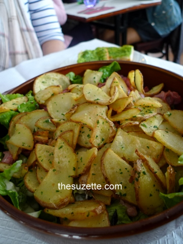 Potato salad with gizzard