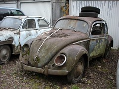 VW Export 1949 (luft-kraftwerk) Tags: graveyard vw junkyard wrecks autofriedhof splitwindow wracks grbetal kaufdorf messerli
